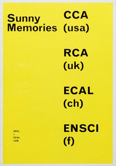 Sunny Memories, EPFL+ECAL Lab, RCA, ENSCI, CCA, Big Game, Daniela Droz, Tonatiuh Ambrosetti
