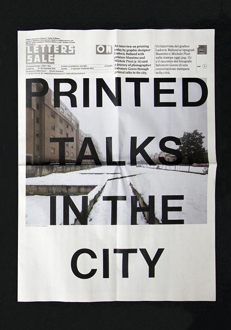 Printed Talks in the City, Istituto Svizzero di Roma, Salvatore Lacagnina, Salvatore Gozzo